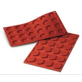 silicone baking mould GN 1/3  • Mini Florentin | 34-cavity | mould size Ø 35 x H 5 mm  L 300 mm  B 175 mm product photo