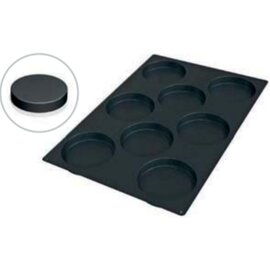 silicone baking mould baker's standard  • Sponge Cake | 8-cavity | mould size Ø 140 x H 25 mm  L 600 mm  B 400 mm product photo