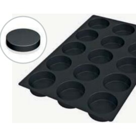 silicone baking mould baker's standard  • Sponge Cake | 15-cavity | mould size Ø 105 x H 40 mm  L 600 mm  B 400 mm product photo