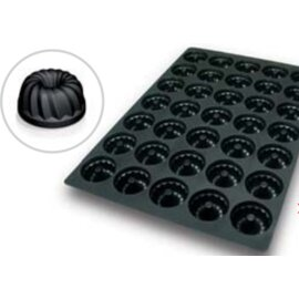 silicone baking mould baker's standard  • gugelhupf | 35-cavity | mould size Ø 60 x H 3 mm  L 600 mm  B 400 mm product photo