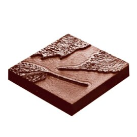 chocolate mould  • square|leaves | 10-cavity | mould size 41 x 41 x H 7 mm  L 275 mm  B 135 mm product photo