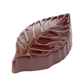 chocolate mould  • leaf | 21-cavity | mould size 44.5 x 26 x H 13.5 mm  L 275 mm  B 135 mm product photo
