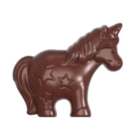 chocolate mould|double form  • unicorn | 4-cavity | mould size 80 x 68.6 x H 16.53 mm  L 275 mm  B 135 mm product photo