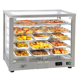 Panorama Heated display WD 780 DI stainless steel coloured 5 levels 1800 watts 230 volts  L 780 mm  B 490 mm  H 640 mm product photo