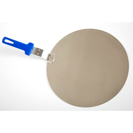 pizza tray aluminium smooth with plastic handle  Ø 320 mm product photo