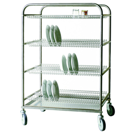dishwasher basket trolley  | frame for plates|glasses  | 885 mm  x 670 mm  H 1510 mm wheeled product photo