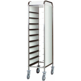 tray trolley CA 1450 P white with sidewalls  | 530 x 325 mm  H 1750 mm product photo