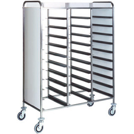 tray trolley CA 1470P white with sidewalls  | 530 x 325 mm  H 1750 mm product photo