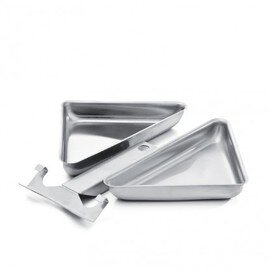 little triangular pan  • stainless steel | 250 mm  x 140 mm  H 30 mm product photo