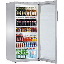 beverage fridge FKvsl 5413 silver coloured 572 ltr | convection cooling | door swing on the right product photo
