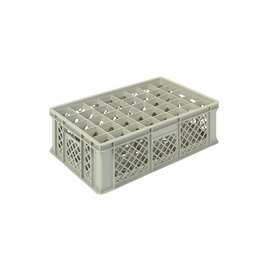 stackable container grey 600 x 400 mm  H 200 mm | 40 compartments 67 x 67 mm product photo
