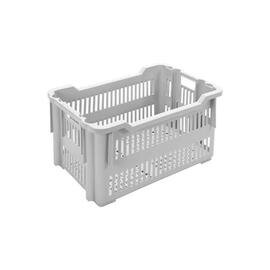 stack and nest container ROTA  • grey  • perforated  | 40 ltr | 550 mm  x 380 mm  H 300 mm product photo