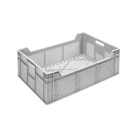 stackable container|storage container MULTI  • grey  • perforated  | 45 ltr | 600 mm  x 400 mm  H 220 mm product photo