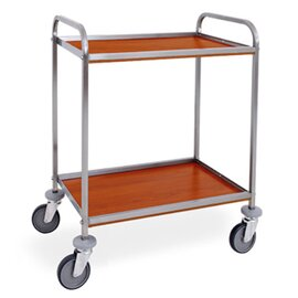 serving trolley cherry wood coloured  | 2 shelves 500 x 450 mm product photo