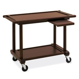 serving trolley wenge coloured  | 2 shelves product photo