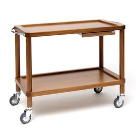 serving trolley Roma tanganica wood coloured  | 3 shelves product photo