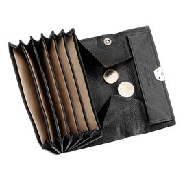 waiter fan wallet cowhide leather black  L 170 mm product photo