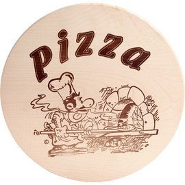 pizza plate wood round  Ø 380 mm product photo