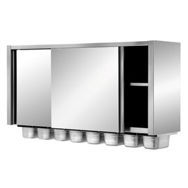 wall cabinet 1200 mm  x 400 mm  H 820 mm with 5 GN containers product photo