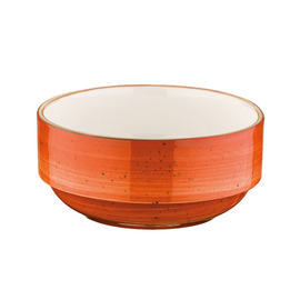 stacking bowl AURA Banquet Terracotta 350 ml porcelain orange veined  Ø 120 mm  H 52 mm product photo