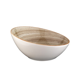 bowl AURA Vanta Terrain porcelain white brown product photo