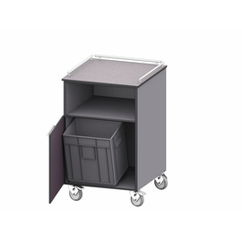outdoor service station | clearing station | shelf | 1 wing door 1 waste bin 600 mm product photo