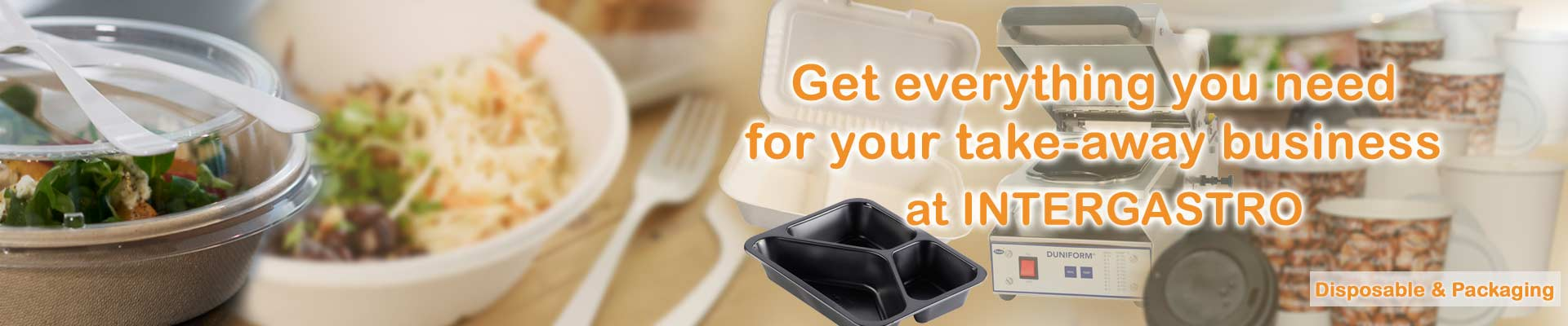 Get everything you need for your take-away business at INTERGASTRO